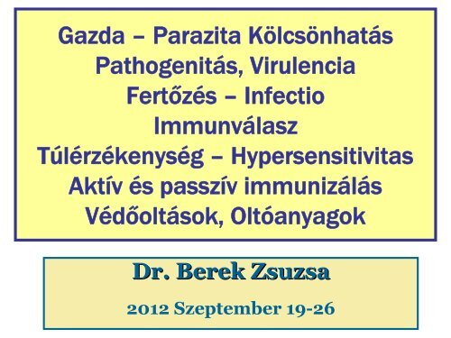 Allergia parazita kezelés.