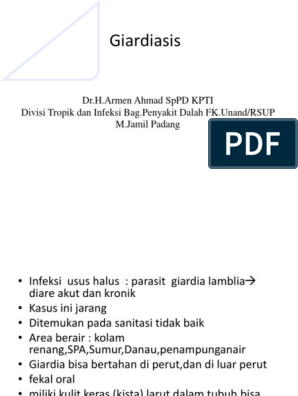 a giardiasis laboratóriumi parazitológiai diagnosztikájának módszere)