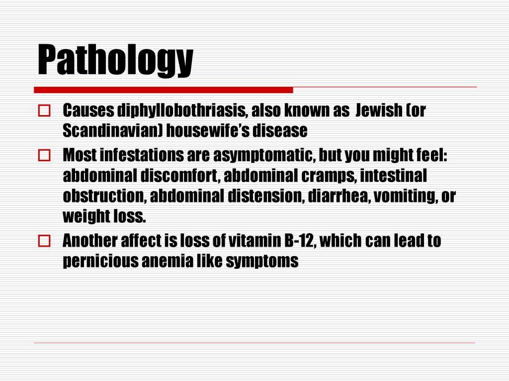 diphyllobothriasis patogenezis)